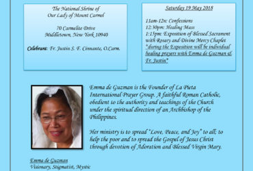 NY Eucharistic celebration and Healing Services