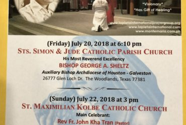LA PIETA HOUSTON TEXAS HOLY MASS AND HEALING SERVICES