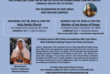 LA PIETA SYRACUSE HOLY MASS AND HEALING SERVICES